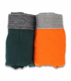 شورت اسلیپ کش اسپورت طرح ترک نیکو تن پوش کد 3154 نارنجی و سبز - بسته دو عددی