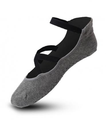 جوراب پیلاتس کف استپ دار Ekmen اکمن طرح A خاکستری