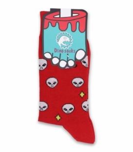 جوراب ساقدار داینو ساکس طرح الین قرمز