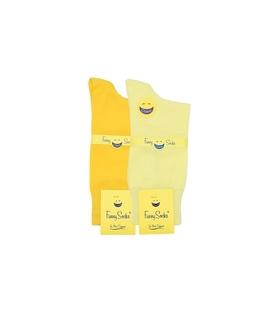 جوراب ساق بلند مردانه فانی ساکس طیف زرد - یک جفت