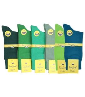 جوراب فانی ساکس ساق بلند مردانه طیف سبز - یک جفت