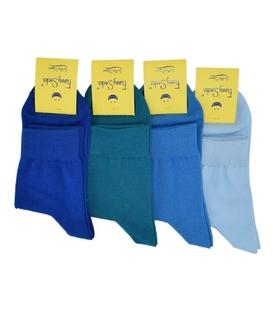 جوراب نیم ساق مردانه فانی ساکس طیف آبی - یک جفت