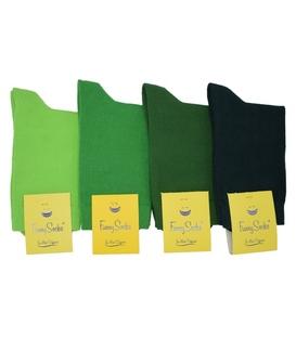 جوراب ساق بلند زنانه فانی ساکس طیف سبز - یک جفت