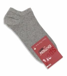 جوراب قوزکی Ekmen اکمن ساده خاکستری روشن