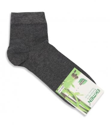 جوراب نیم ساق بامبو Ekmen اکمن ساده خاکستری