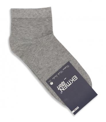 جوراب نیم ساق Ekmen اکمن ساده خاکستری روشن