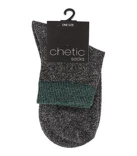 جوراب Chetic چتیک لمهای خاکستری حاشیه سبز