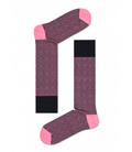 جوراب Happy Socks هپی ساکس طرح Dressed مدل Divided Herringbone