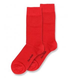 جوراب ساقدار داینو ساکس ساده قرمز