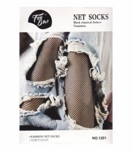 جوراب شلواری طرح فیش نت ریز کد 1201