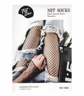 جوراب شلواری طرح فیش نت کد 1202