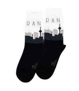 جوراب ساقدار نانو پاتریس طرح تهران مشکی