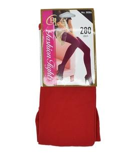 جوراب شلواری ساده قرمز ضخامت ۲۸۰