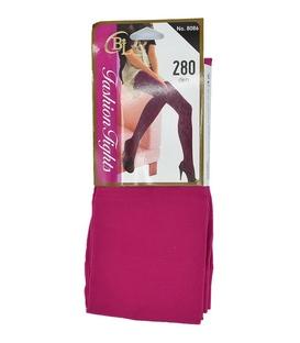جوراب شلواری ساده سرخابی ضخامت ۲۸۰