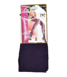 جوراب شلواری ساده بنفش ضخامت ۲۸۰