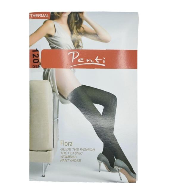 جوراب ساق بلند Penti Flora مشکی تراکم ۱۲۰