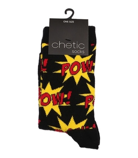جوراب Chetic چتیک ساق بلند طرح انفجار مشکی