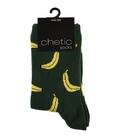 جوراب ساق دار Chetic چتیک طرح موز سبز