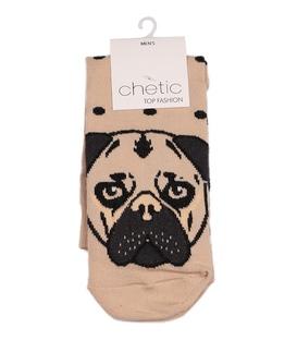 جوراب ساق دار Chetic چتیک طرح بولداگ کرم