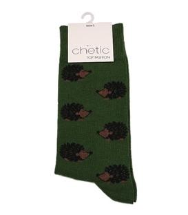 جوراب ساق دار Chetic چتیک طرح جوجه تیغی سبز