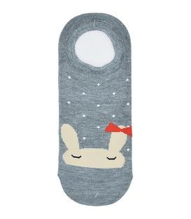 جوراب کالج طرح خرگوش خوابالو خاکستری
