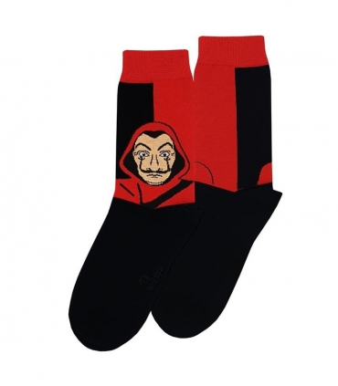 جوراب ساقدار نانو پاتریس طرح خانه کاغذی قرمز