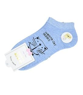 جوراب مچی طرح گربه شیبویا آبی
