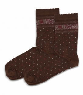 جوراب ساقدار بامبو Ekmen اکمن طرح دار قهوهای