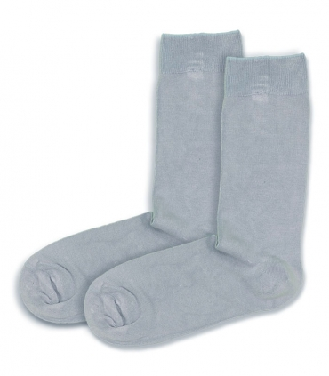 جوراب ساقدار بامبو Ekmen اکمن ساده خاکستری روشن
