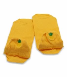 جوراب مچی Ekmen اکمن طرح گلدوزی آناناس زرد