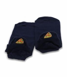جوراب مچی Ekmen اکمن طرح گلدوزی پیتزا سرمهای