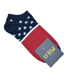جوراب قوزکی مردانه طرح خط و ستاره C