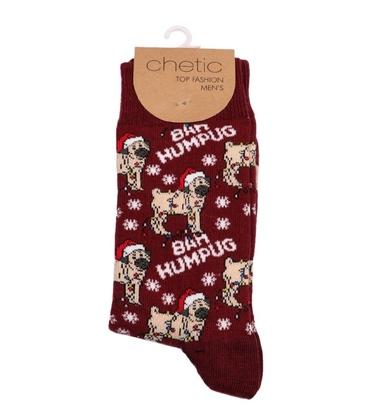 جوراب ساق دار Chetic طرح سگ کریسمس