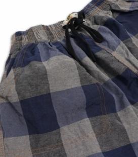 شلوارک مردانه جیبدار نخی چهارخونه نوین طرح 106