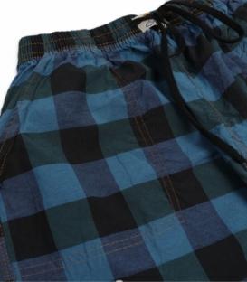 شلوارک مردانه جیبدار نخی چهارخونه نوین طرح 117