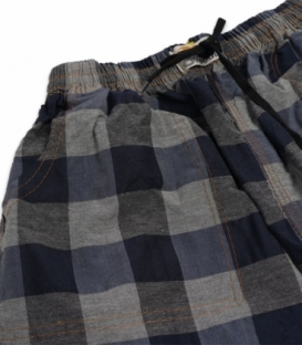 شلوارک مردانه جیبدار نخی چهارخونه نوین طرح 118