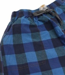 شلوارک مردانه جیبدار نخی چهارخونه نوین طرح 119