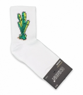 جوراب نیم ساق Ekmen اکمن طرح کاکتوس سبز سفید