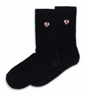 جوراب ساقدار Ekmen اکمن طرح گلدوزی روباه مشکی