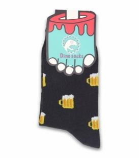 جوراب ساقدار داینو ساکس طرح آبجو دودی