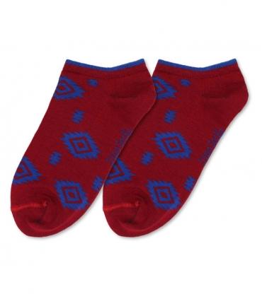 جوراب مچی داینو ساکس طرح گلیم آبی قرمز