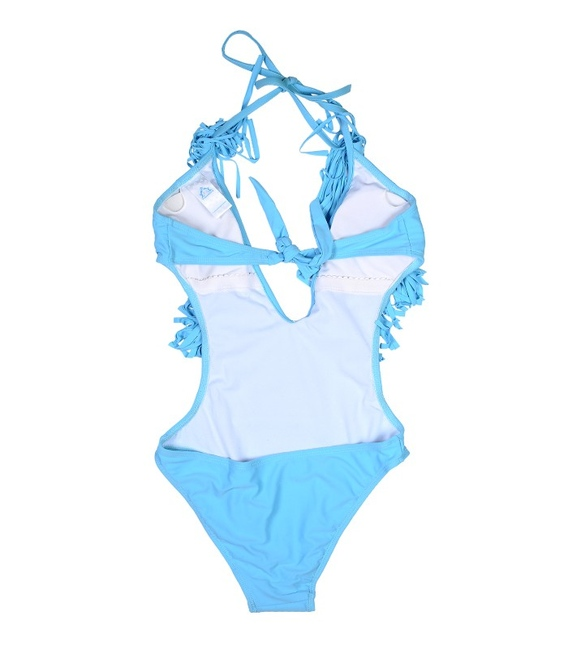 مایو یک تکه زنانه مدل آپاچی آبی