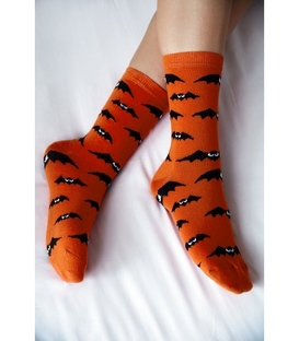 جوراب ساق دار Chetic چتیک طرح خفاش نارنجی