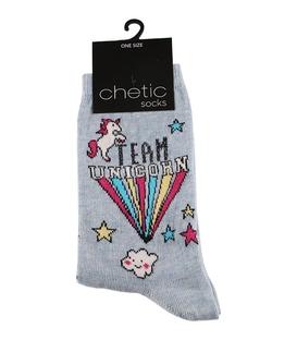 جوراب Chetic چتیک طرح تکشاخ و ابر آبی