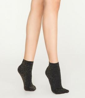 جوراب Penti پنتی نیم ساق مدل Smoke لمهای ضخامت 100 مشکی Black