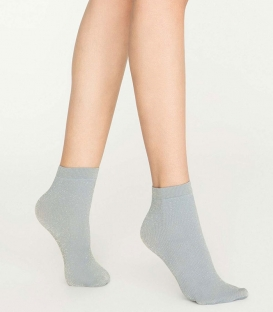 جوراب Penti پنتی نیم ساق مدل Smoke لمهای ضخامت 100 خاکستری Smoke Blue