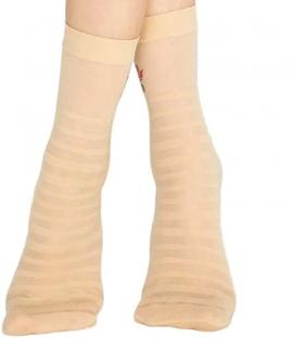 جوراب Penti پنتی ساقدار مدل Stripe Rose گلدار ضخامت 30 کرم روشن Light Nude