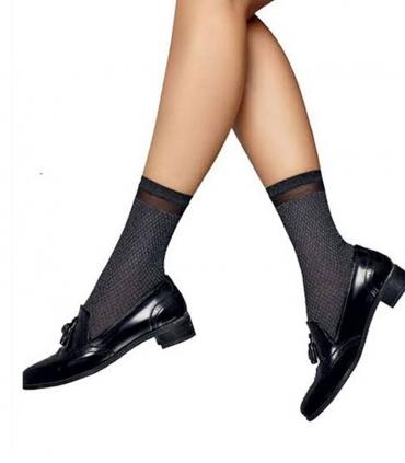 جوراب Penti پنتی ساقدار مدل Cross لوزی ضخامت 70 دودی Gray Mlng