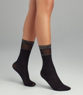 جوراب Penti پنتی ساقدار مدل Cool Basic لمهای ضخامت 30 مشکی Black