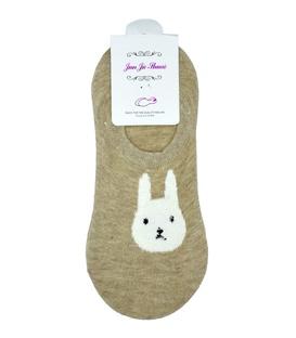 جوراب قوزکی پشت ژلهای طرح خرگوش جدی خاکی